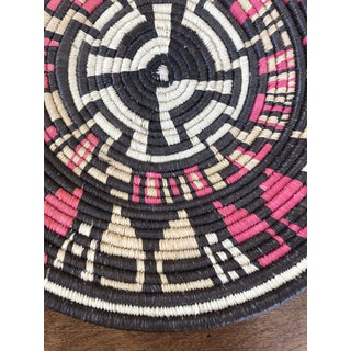 20th Century Tribal Brown and Pink Woven Basket Preview