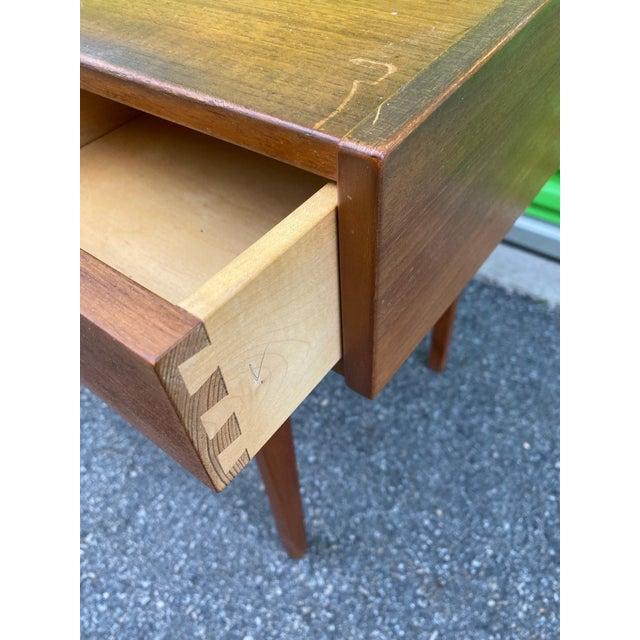 1960s Danish Mid-Century Modern Teak Vanity Dressing Table For Sale - Image 5 of 8