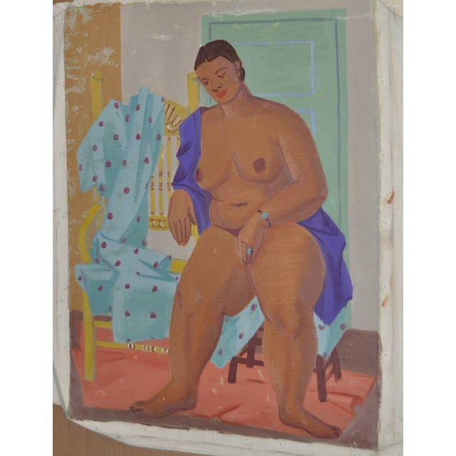 1940's Figurative Cubist Nude - Image 2 of 6