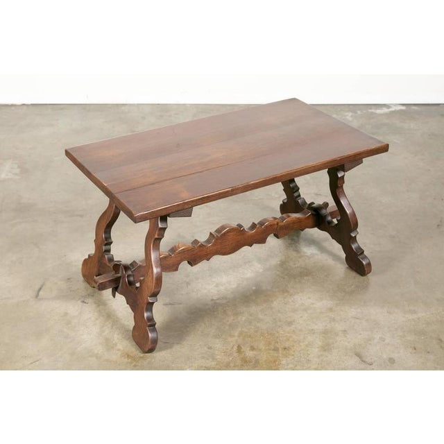 Antique Spanish Colonial Style Oak Coffee Table For Sale In Birmingham - Image 6 of 10