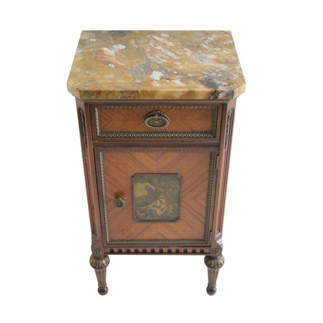 French Neoclassical Inlaid Nightstand - Image 2 of 5