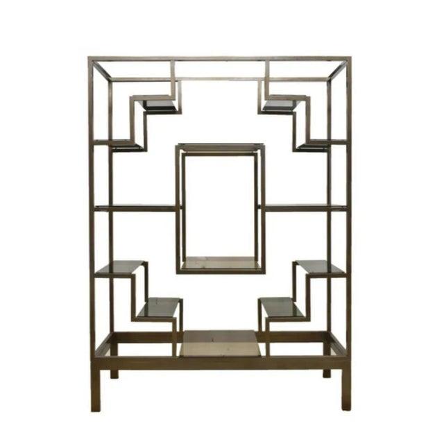 Art Deco 1970s Italian Modernist Glam Etagere or Room Divider - Manner of Romeo Rega For Sale - Image 3 of 4