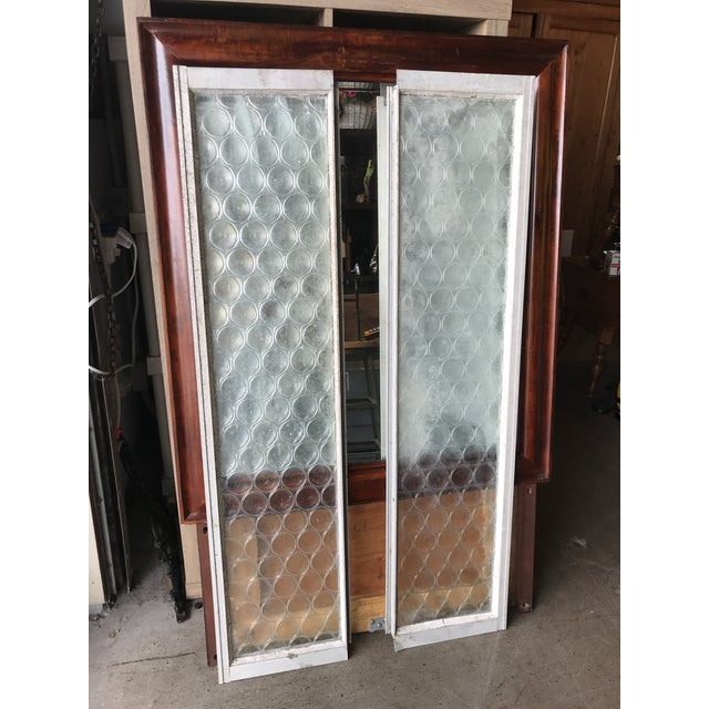 Vintage Bottle Glass Windows-A Pair For Sale - Image 10 of 13