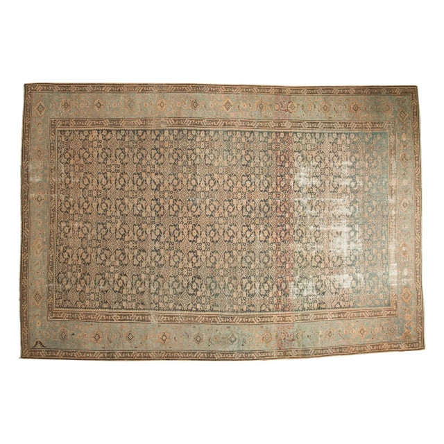"Vintage Distressed Malayer Carpet - 7' X 10'2"" For Sale - Image 13 of 13"