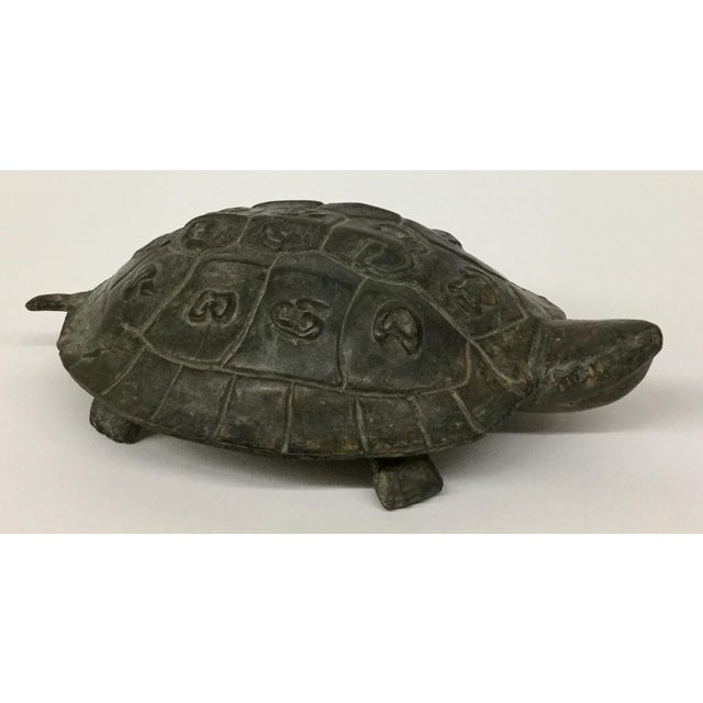 1940s Antique Bronze Turtle Accent Piece Paperweight For Sale - Image 12 of 12