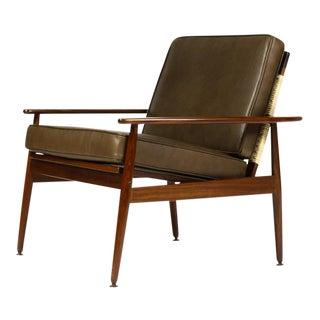 1960s Vintage Hans Olsen for Juul Kristiansen Danish Modern Lounge Chair For Sale