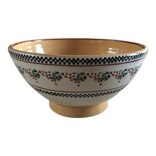 Contemporary Nicholas Mosse Large Pottery Bowl With Grapes For Sale