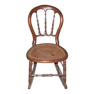 Early 20th Century Vintage Cane Rocker For Sale