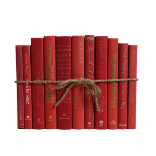 Modern Orchard ColorPak - Decorative Books in Shades of Red For Sale