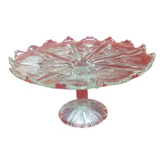 Higbee Pedestal Cake Plate For Sale