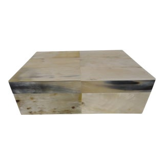 20th Century Organic Modern Naturally Harvested Reclaimed Horn Box For Sale