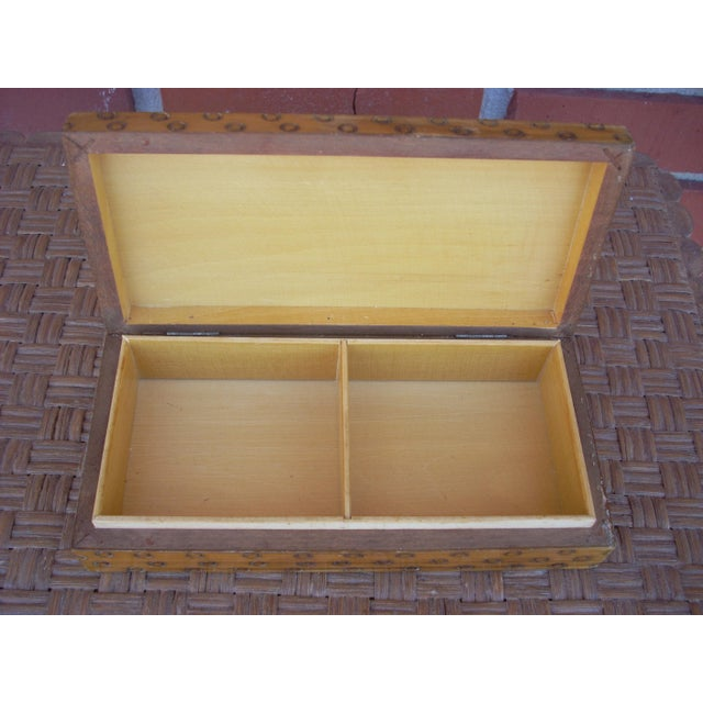 Wood Box With Incised Circles - Image 3 of 3