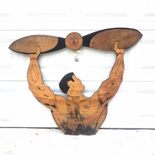 Vintage Handpainted Aviator Fraternity Sign For Sale - Image 9 of 9
