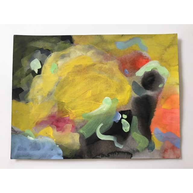 Abstract water color painting done by a well established contemporary artist.