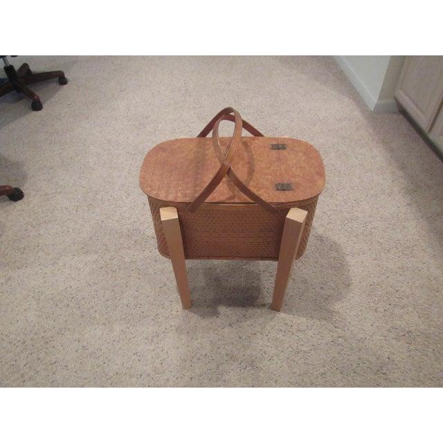 Vintage Picnic Basket Side Table - Image 5 of 11
