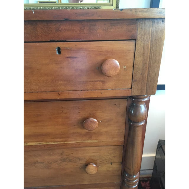 Brown Antique Federal Style Chest of Drawers in Cherry For Sale - Image 8 of 8