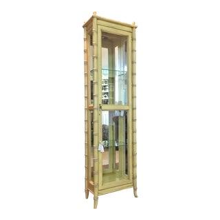 1970s Chippendale Lane Altavista Faux Bamboo Cabinet/Vitrine For Sale
