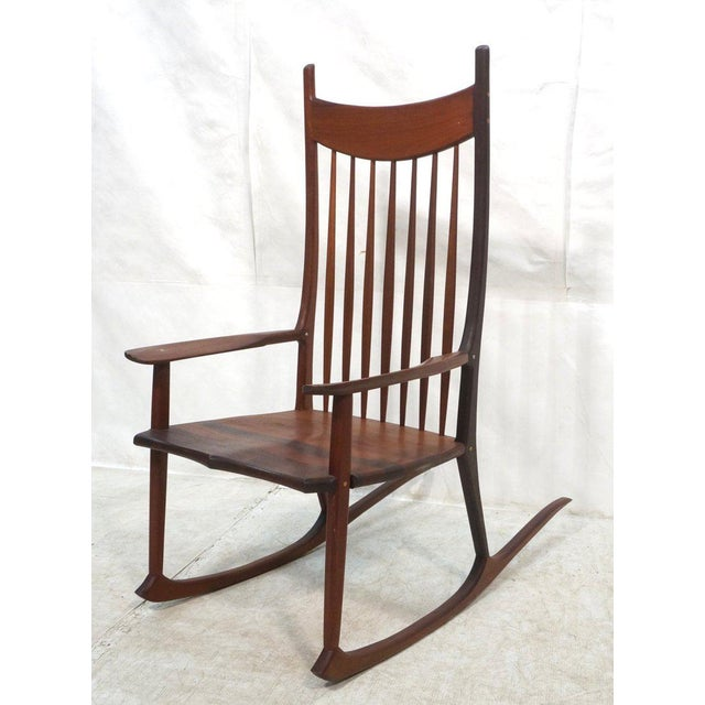 Tall Oversized American Craftsman Rocking Chair - Image 2 of 10