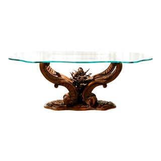 1990s Carved Rockwork Dining Table For Sale