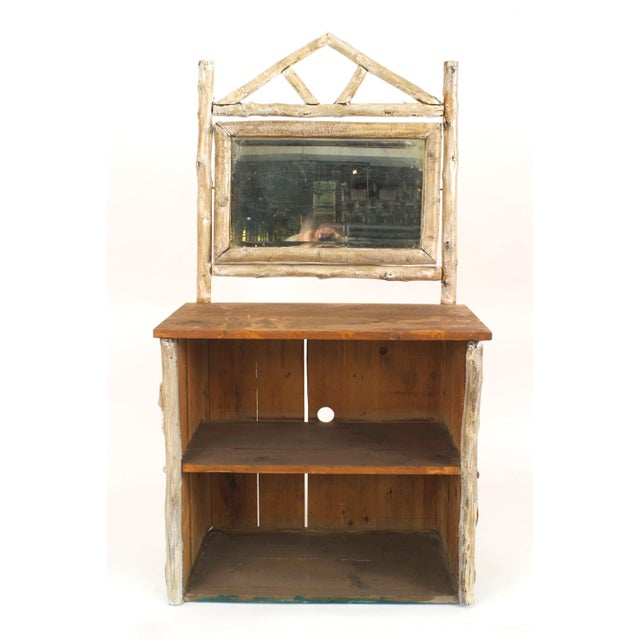 Early 20th Century 1920s Vintage Rustic American Adirondack Birchwood and Bark Dresser Cabinet For Sale - Image 5 of 5