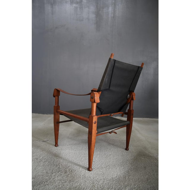 Rud Rasmussen Pair of Vintage Safari Chairs by Kaare Klint for Rud. Rasmussen For Sale - Image 4 of 8