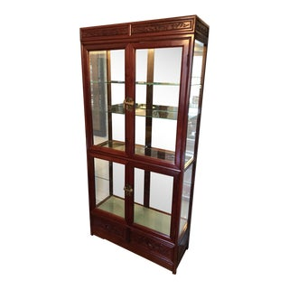 Chinese Rosewood China Cabinet