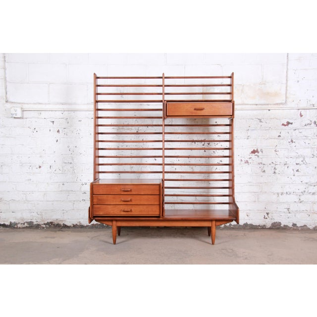 Danish Modern Leslie Diamond for Conant Ball Norsemates Room Divider or Wall Unit C. 1950s For Sale - Image 3 of 13