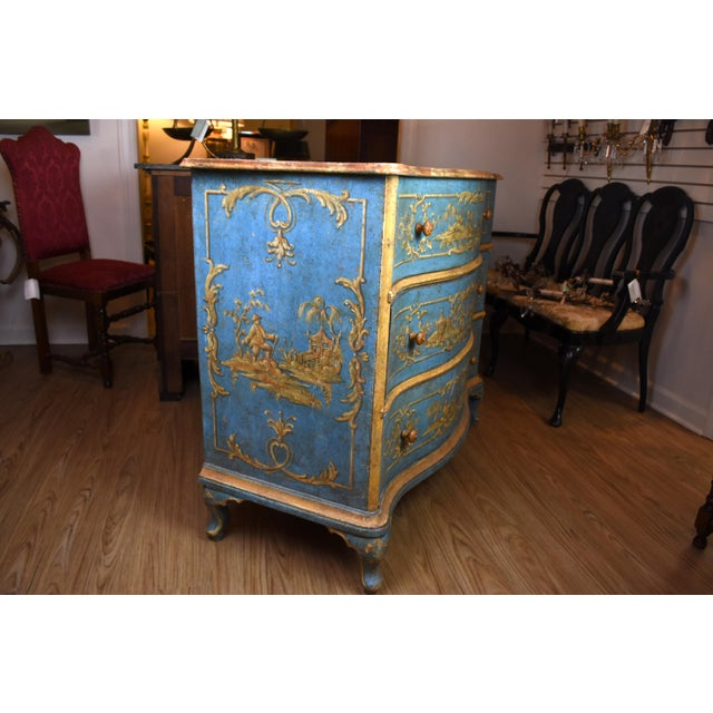 Wood 18th Century Italian Painted Chinoiserie Commode For Sale - Image 7 of 12
