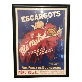 European Vintage Art Poster Reproduced in the 1960s For Sale