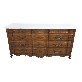 John Widdicomb French Style Marble Top Dresser For Sale