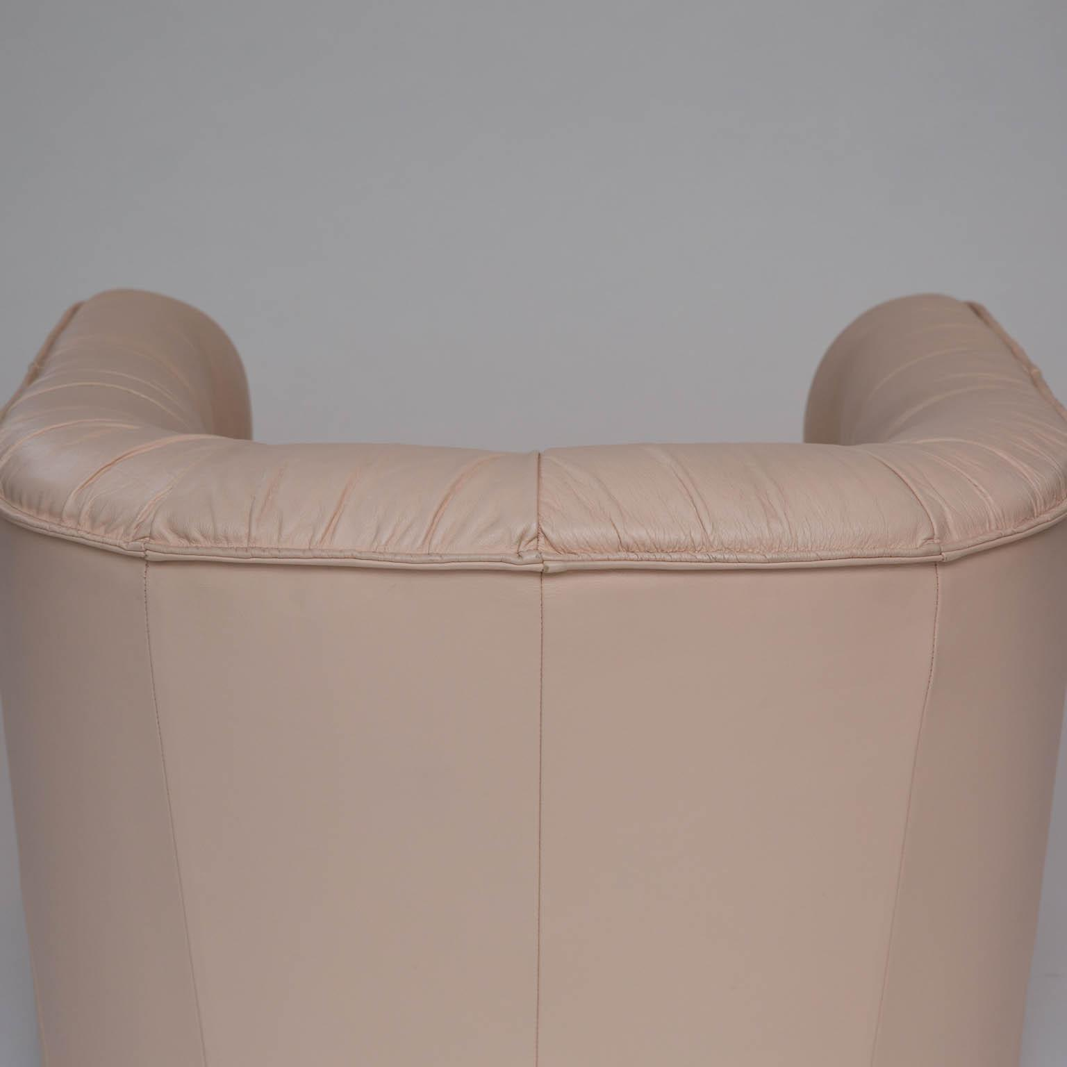Leather Barrel Back Swivel Chair   Image 3 Of 7