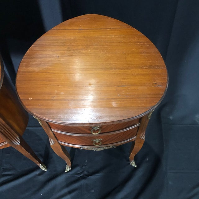French Louis XV Style Nightstands -A Pair For Sale - Image 11 of 12