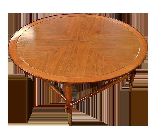 Lane Mid Century Danish Style Copenhagen Round Coffee Table