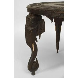 Wood Asian Burmese Style Ebony Low Center Table For Sale - Image 7 of 12