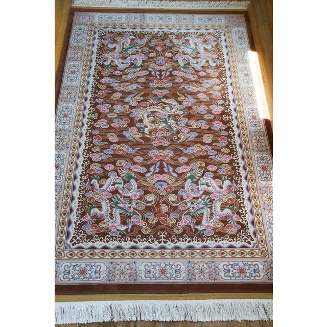 "Hand Knotted Wool Oriental Dragon Rug - 6' x 10'2"" - Image 2 of 8"