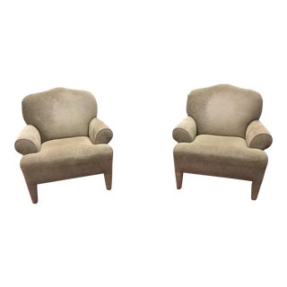Celadon Club Chairs - A Pair