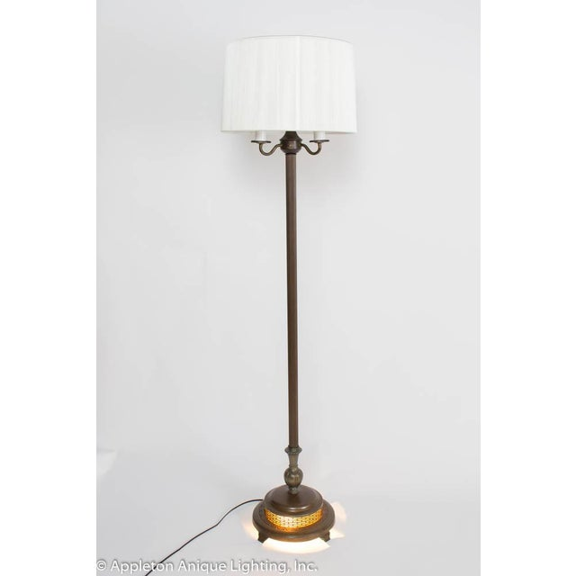 Restored Vintage 6 Way Floor Lamp With Mica Nightlight For Sale - Image 4 of 8