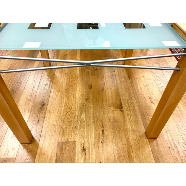 1990s Modern Ligne Roset Expandable Extensia Glass Dining Table For Sale In New York - Image 6 of 7