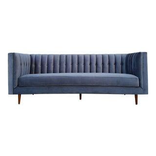 Mid-Century Style Velvet Tufted Sofa