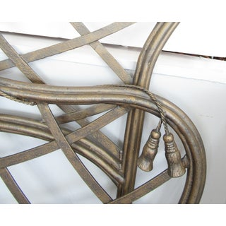 1990s Art Nouveau Iron Bow and Tassel King Bedframe Preview