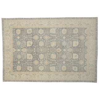 Transitional Rug with Classic Oushak Design in Light Colors, 12'01 X 17'10