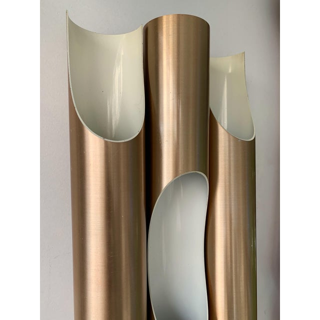 RAAK Pair of Maxi Fuga Sconces Gilt Metal by Komulainen for Raak Amsterdam. 1970s For Sale - Image 4 of 12