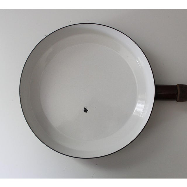 Brown Large Brown Dansk Kobenstyle Enamel Skillet Frying Pan With Lid Jens Quistgaard For Sale - Image 8 of 10