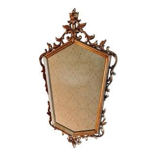 Vintage Italian Gold Tone Mirror