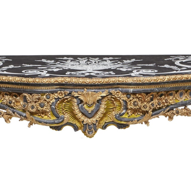 Italian Rococo Style Gilt Console Table For Sale - Image 11 of 13