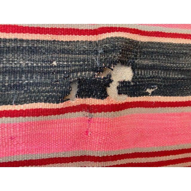 Tribal Moroccan Vintage Flat-Weave Stripe Kilim Rug For Sale - Image 3 of 13