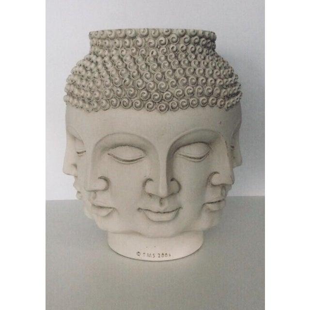 Fornasetti Dora Maar Style Multi Face Asian Buddha Planter / Vase For Sale - Image 12 of 12
