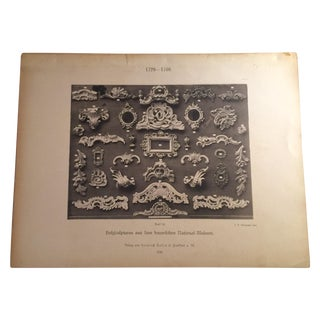 German Architectural Moldings Print For Sale