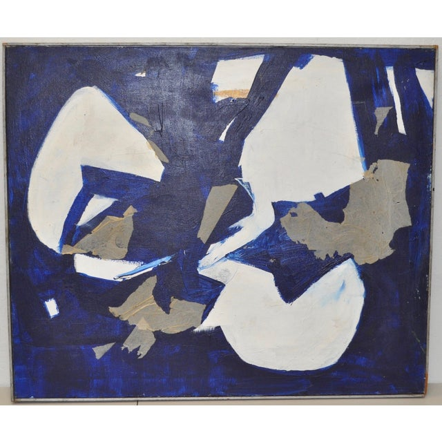 1960s Vintage Mixed Media Abstract Painting - Image 2 of 4