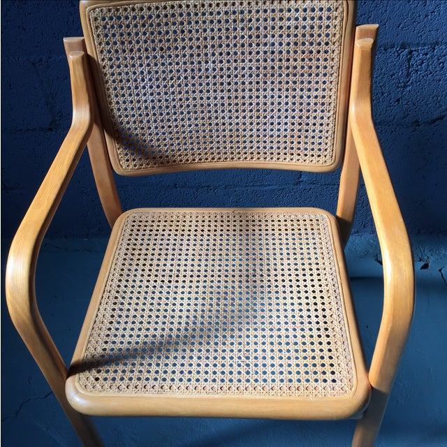 Danish Modern Bentwood Cane Chairs - Set of 6 - Image 7 of 11